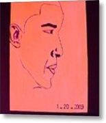 The President Barack Obama. Metal Print