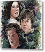 The Princess, The Knight And The Scoundrel Metal Print