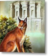The Protector Of The City Of Petra Metal Print