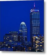 The Pru Lit Up In Red White And Blue For The Fourth Of July Metal Print