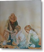 The Pumice Seekers Metal Print