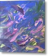 The Purple Dolphins Metal Print