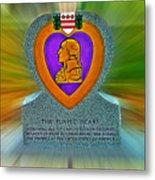 the Purple Heart Metal Print