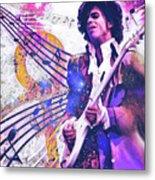 The Purple One Metal Print