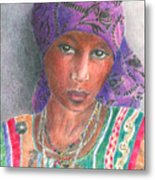 The Purple Scarf  Metal Print