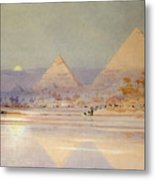 The Pyramids At Dusk Metal Print