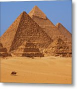 The Pyramids In Egypt Metal Print