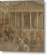 The Queen Of Sheba Before King Solomon Metal Print