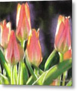 The Queen's Tulips Metal Print