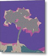 The Quilted Rain Tree At Ramona Metal Print