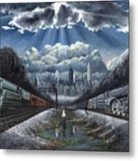 The Race Metal Print