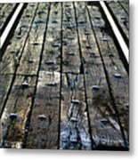 The Rails Metal Print