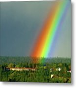 The Rainbow Apartments Metal Print