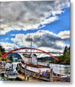 The Rainbow Bridge - Laconner Washington Metal Print