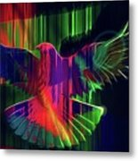 The Rainbow Dove  Metal Print
