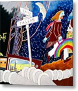 The Rainbow Family Moved Away Metal Print