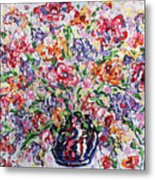 The Rainbow Flowers Metal Print