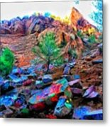 The Rainbow Mountain Metal Print