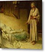 The Raising Of Jairus's Daughter Metal Print by George Percy Jacomb-Hood