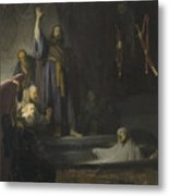 The Raising Of Lazarus Metal Print