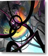 The Randomness Of It All Abstract Metal Print