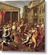 The Rape Of The Sabines Metal Print