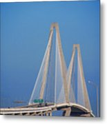 The Ravanel Bridge In Charleston Metal Print