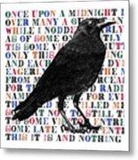 The Raven Poem Art Print Metal Print
