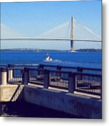 The Ravenel Bridge Metal Print