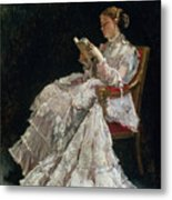 The Reader Metal Print by Alfred Emile Stevens