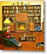 The Reading Room Metal Print