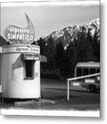 The Real Alaska - Espresso Metal Print