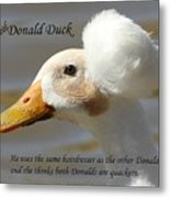 The Real Donald Duck Metal Print