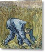 The Reaper After Millet Saint Remy De Provence, September 1889 Vincent Van Gogh 1853  1890 Metal Print