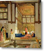 The Reception Metal Print by John Frederick Lewis