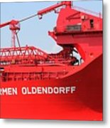 The Red Barge Metal Print