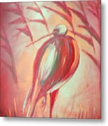 The Red Bird Metal Print