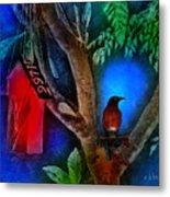 The Red Birdhouse Metal Print