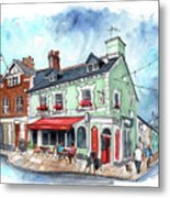 The Red Boat In Beaumaris Metal Print