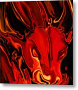 The Red Bull Metal Print