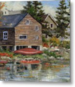 The Red Canoe Metal Print