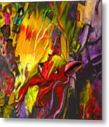 The Red Dog Metal Print