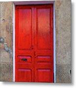 The Red Door. Metal Print