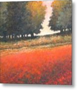 The Red Field #2 Metal Print