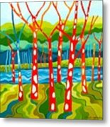 The Red Forest Metal Print by Carola Ann-Margret Forsberg