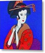 The Red Geisha Metal Print
