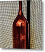 The Red Glass Bottke Metal Print