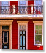 The Red House-nola-faubourg Marigny Metal Print