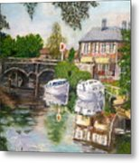 The Red Lion Inn By The Riverbank Metal Print