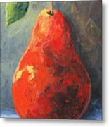 The Red Pear II  Metal Print